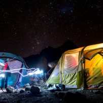 Starry night on Mt. Kilimanjaro
